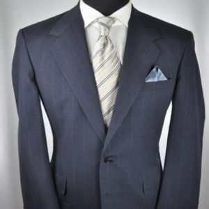 $3995 Oxxford Clothes Navy 2Btn Suit